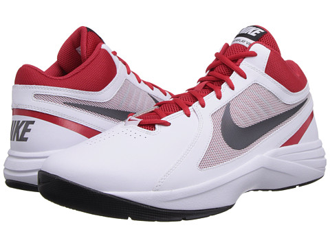 Nike - The Overplay VIII (White/University Red/Black/Metallic Dark Grey) Men
