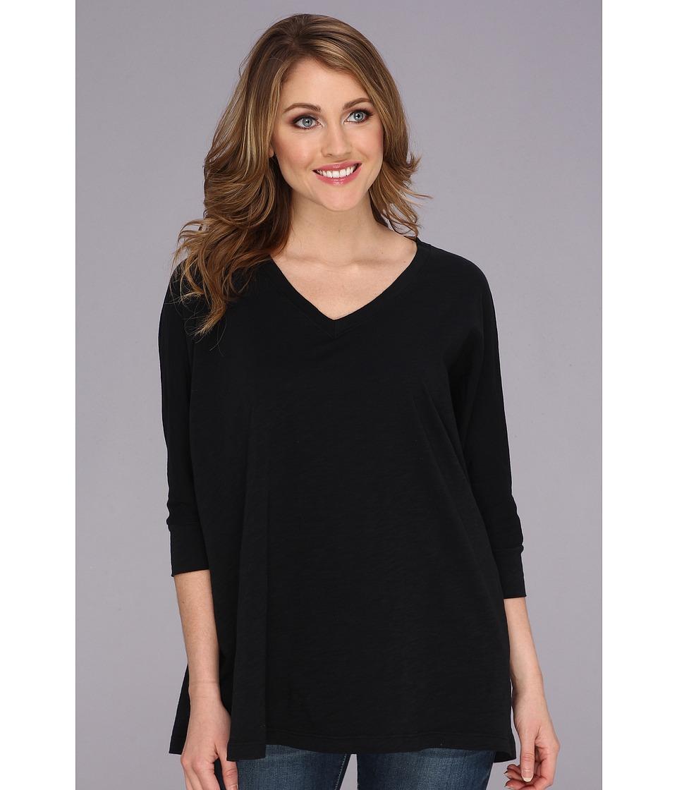 Allen Allen - Slub Vee (Black) Women's T Shirt