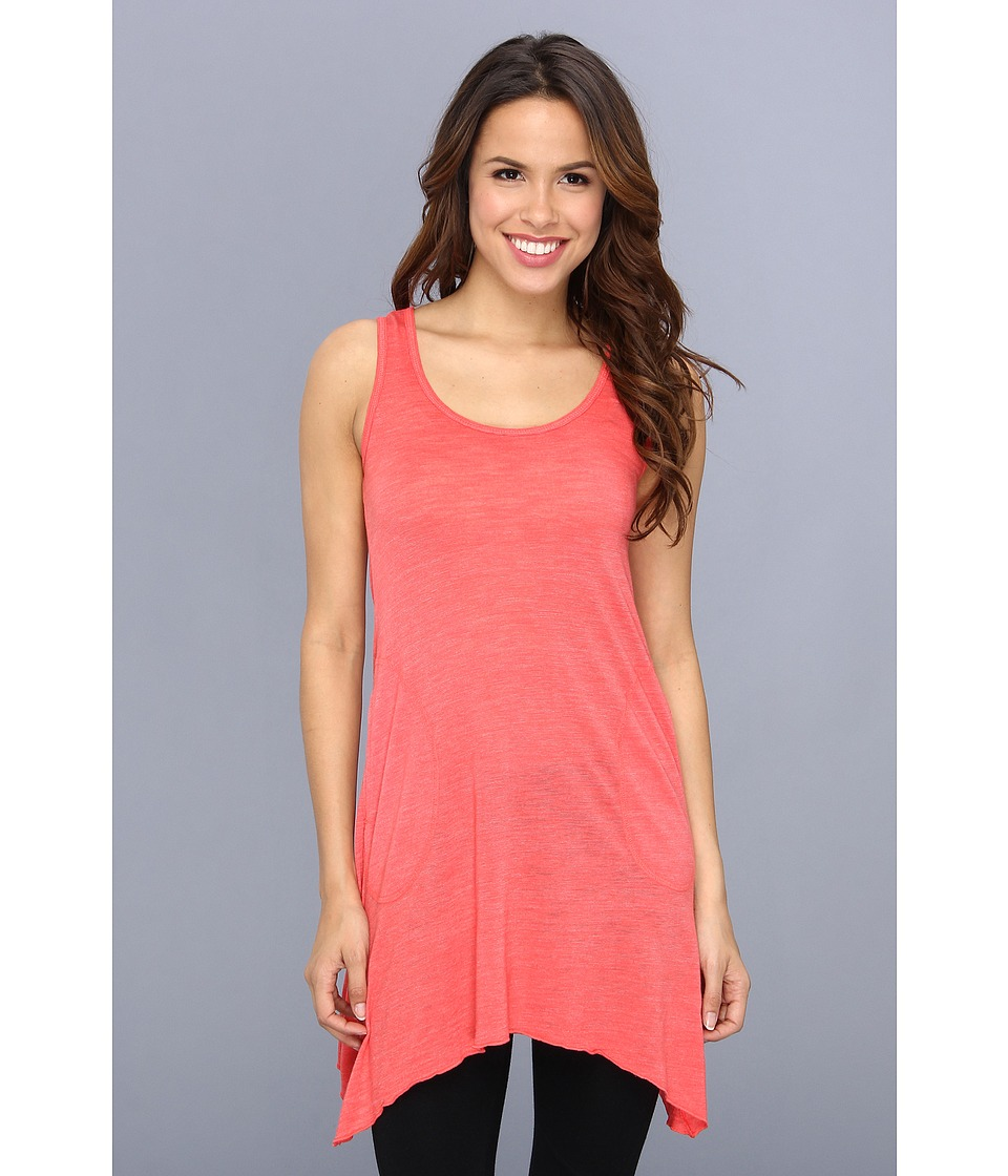 Allen Allen Scoop Neck Angled Tunic (Begonia) Women