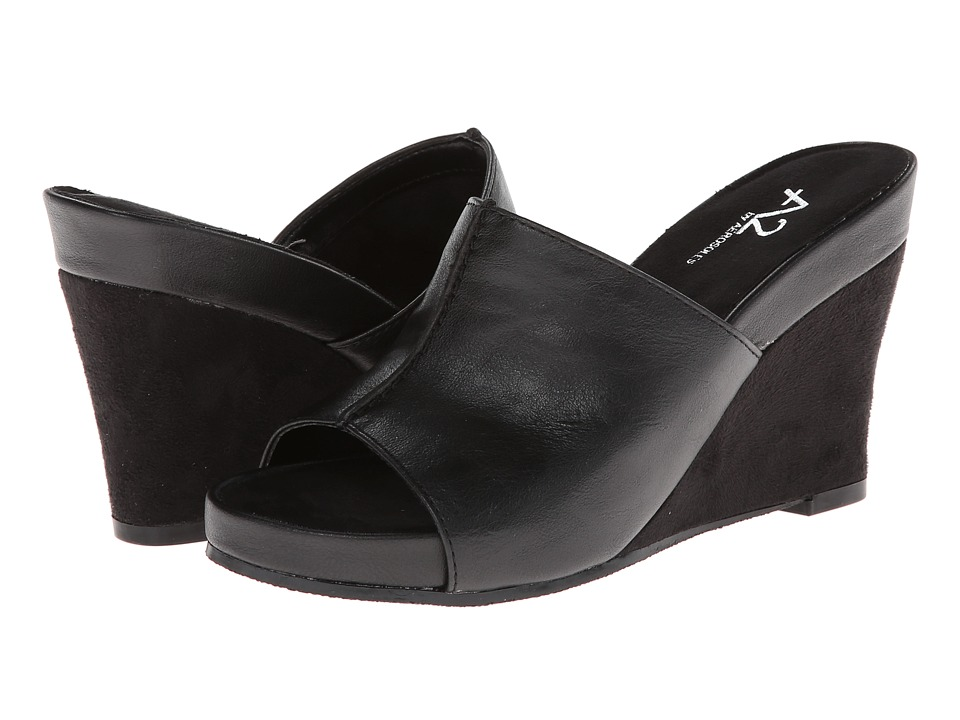 Aerosoles - A2 by Aerosoles Heart Plush (Black) Women's Wedge Shoes