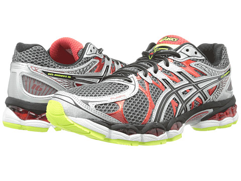 ASICS - GEL-Nimbus 16 (Titanium/Black/Red) Men's Running Shoes
