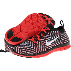 Nike Free 5.0 TR Fit 4 Print (Black/Laser Crimson/White) Women's Shoes