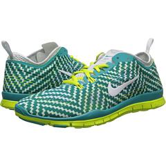 Nike Free 5.0 TR Fit 4 Print (Turbo Green/Venom Green/Pure Platinum/White) Women's Shoes