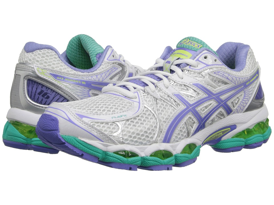 ASICS - GEL-Nimbus 16 (White/Periwinkle/Mint) Women's Running Shoes