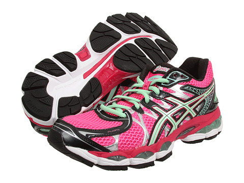 ASICS - GEL-Nimbus 16 (Hot Pink/Green/Black) Women