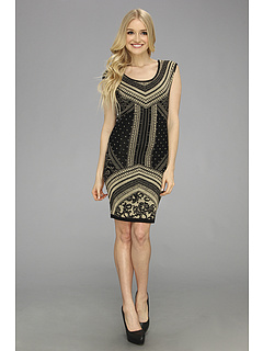 SALE! $126.99 - Save $155 on Hale Bob Rania S S Dress (Gold) Apparel - 54.97% OFF $282.00