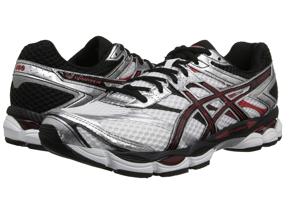 ASICS - Gel-Cumulus 16 (White/Black/Red) Men's Running Shoes