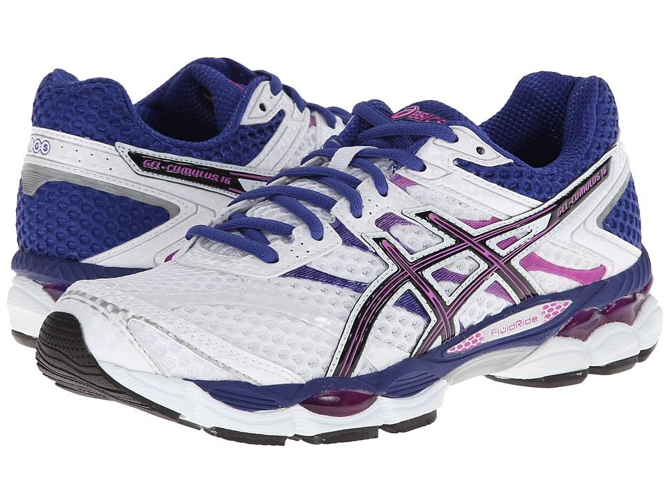 ASICS - Gel-Cumulus 16 (White/Black/Hot Pink) Women's Running Shoes