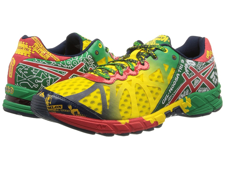 ASICS - GEL-Noosa Tri 9 (Citrus Yellow/Red Pepper/Green) Men's Running Shoes