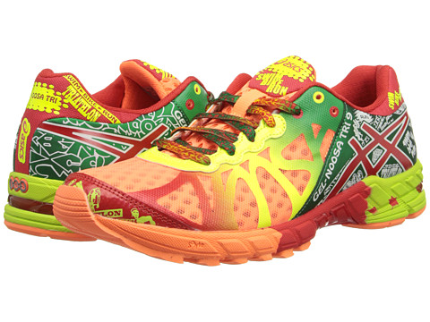 ASICS - GEL-Noosa Tri 9 (Bright Orange/Red Pepper/Flash Yellow) Women's Running Shoes