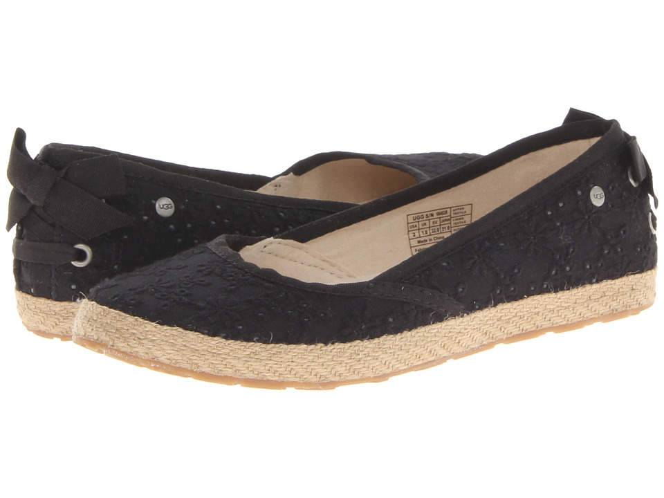 UGG Kids - Tassy Eyelet (Black Textile) Girl's Shoes