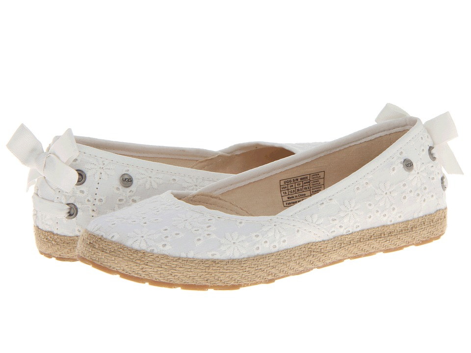 UGG Kids - Tassy Eyelet (White Textile) Girl's Shoes