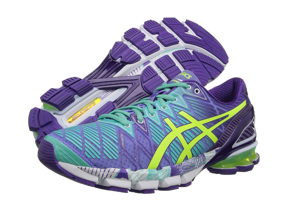 ASICS - Gel-Kinsei 5 (Periwinkle/Flash Yellow/Mint) Women's Running Shoes