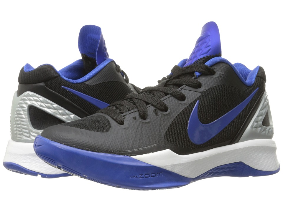 Nike - Volley Zoom Hyperspike (Black/Metallic Silver/White/Game Royal) Women's Volleyball Shoes