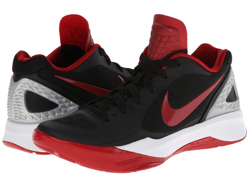 Nike - Volley Zoom Hyperspike (Black/Metallic Silver/White/Gym Red) Women's Volleyball Shoes