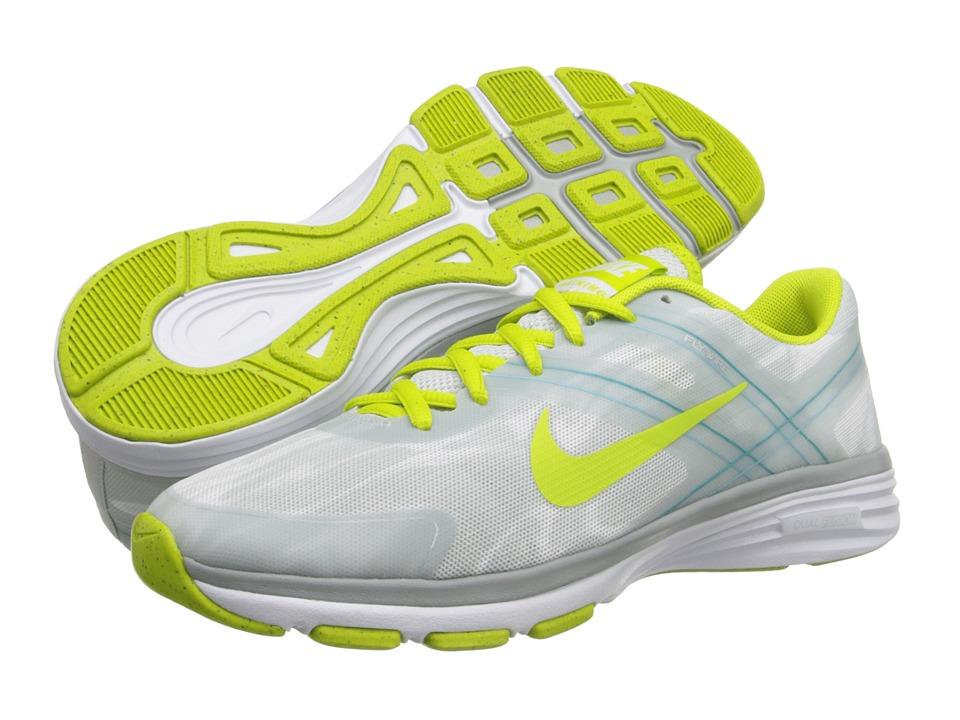 Nike - Dual Fusion TR 2 Print (White/Light Base Grey/Turbo Green/Venom Green) Women