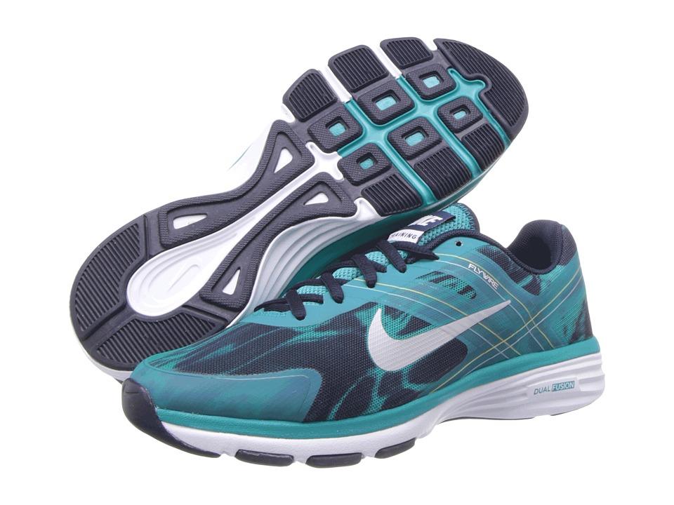 Nike - Dual Fusion TR 2 Print (Turbo Green/Obsidian/Venom Green/Light Base Grey) Women's Cross Training Shoes