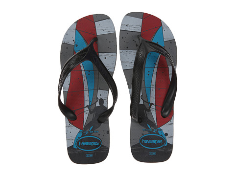 Havaianas - Surf Flip Flops (Grey/Black/Red) Men