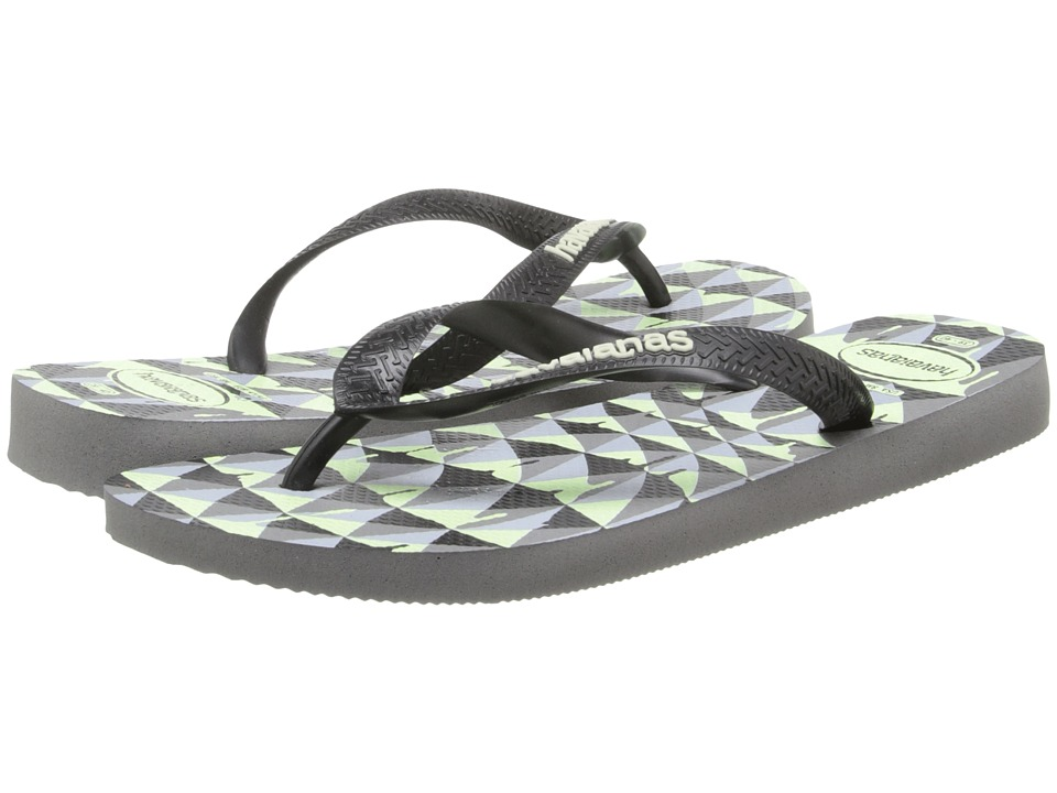 Havaianas - 4 Nite Flip Flops (Grey/Black/Phosphorescent) Men's Sandals