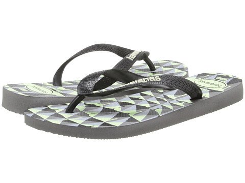 Havaianas - 4 Nite Flip Flops (Grey/Black/Phosphorescent) Men