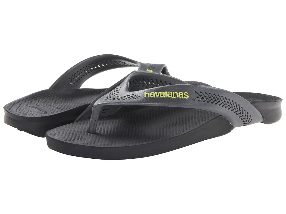 Havaianas - Wide Flip Flops (Black) Men's Sandals