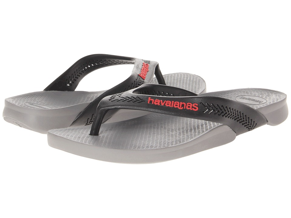 Havaianas Wide Flip Flops (Grey) Men