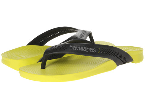Havaianas - Wide Flip Flops (Neon Yellow) Men's Sandals