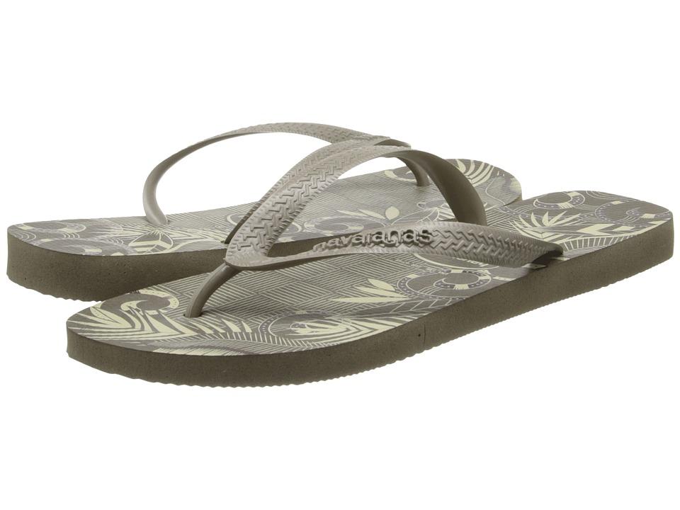 Havaianas - Aloha Flip Flops (Dark Khaki) Men's Sandals
