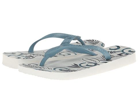 Havaianas - Aloha Flip Flops (White/Blue/Navy Blue) Men