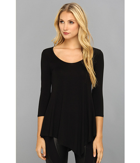 Gabriella Rocha - Studded Neck Line Top (Black) Women's Long Sleeve Pullover
