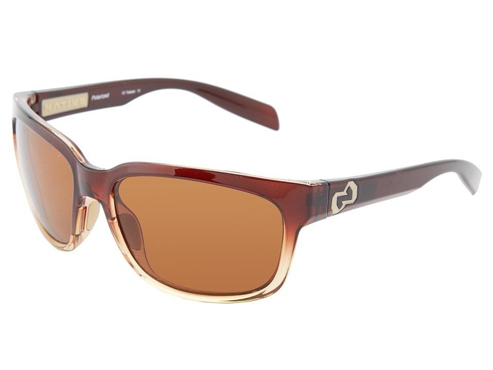 Native Eyewear - Roan (Stout Fade Brown) Sport Sunglasses