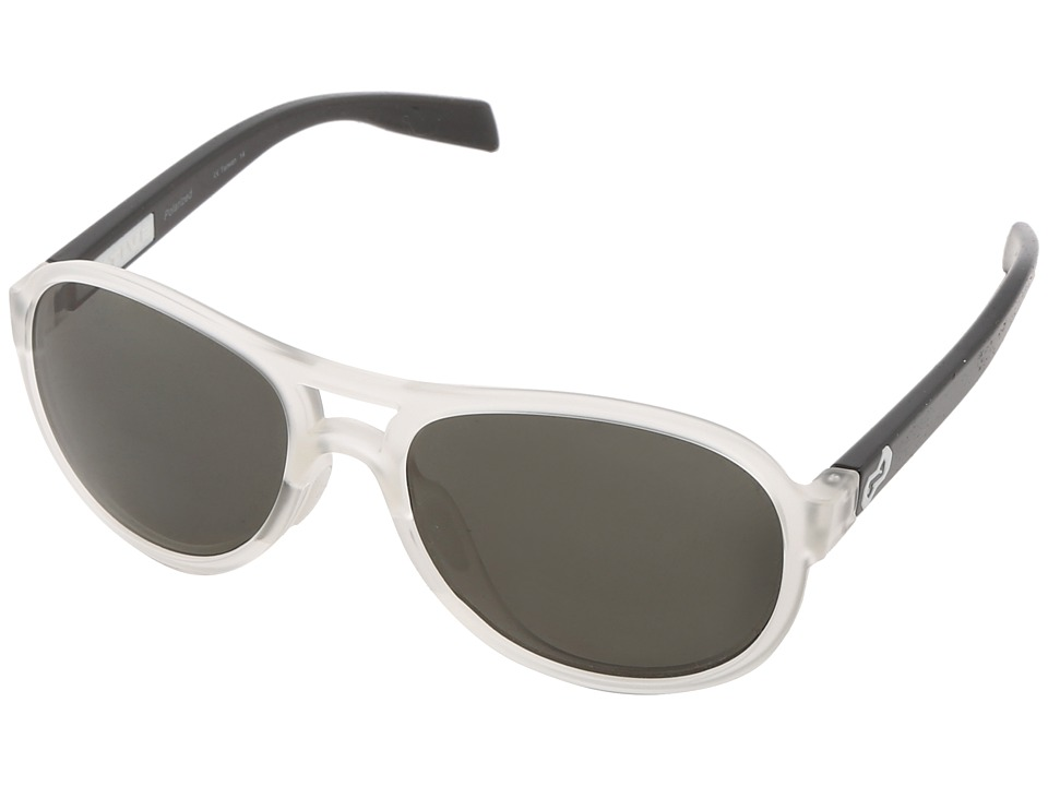 Native Eyewear - Chilkat (Crystal Frost/Iron Gray) Sport Sunglasses