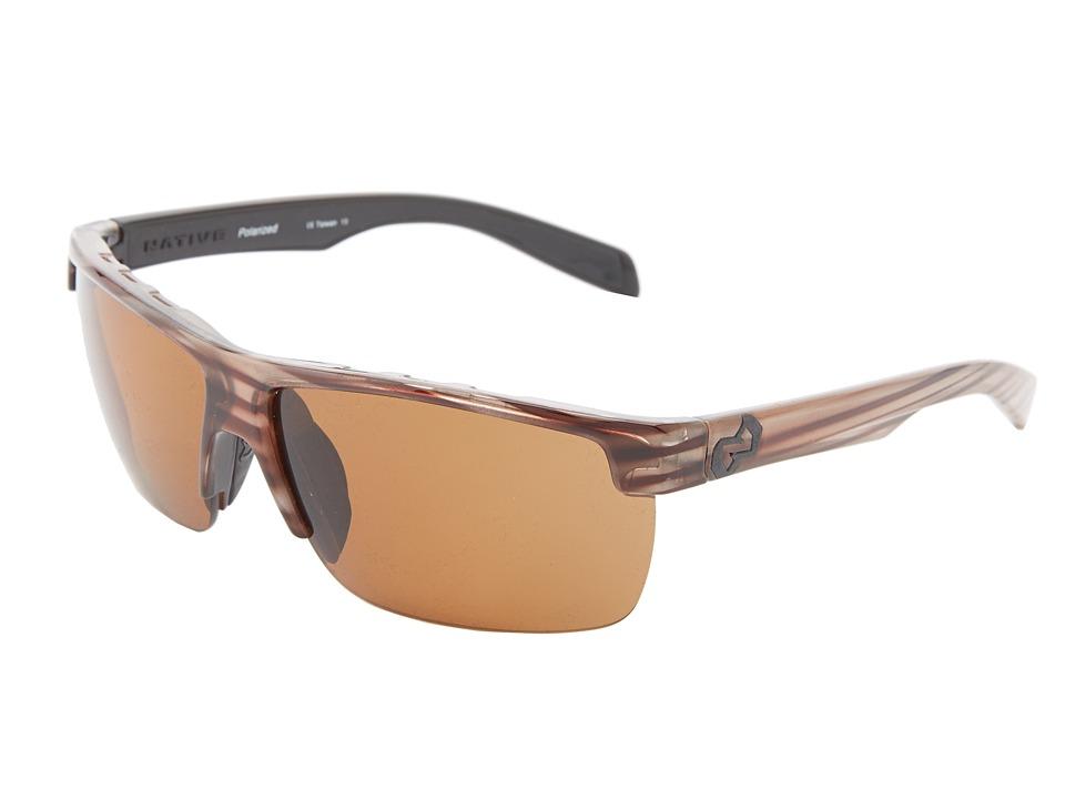 Native Eyewear - Linville (Wood Brown) Sport Sunglasses