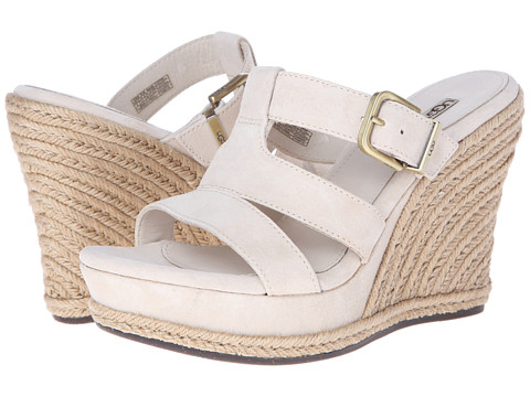 UGG - Hedy (Cream Suede) Women's Wedge Shoes