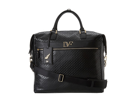 Diane von Furstenberg - Simone - 17 Vertical Box Bag (Black Chain Link) Tote Handbags