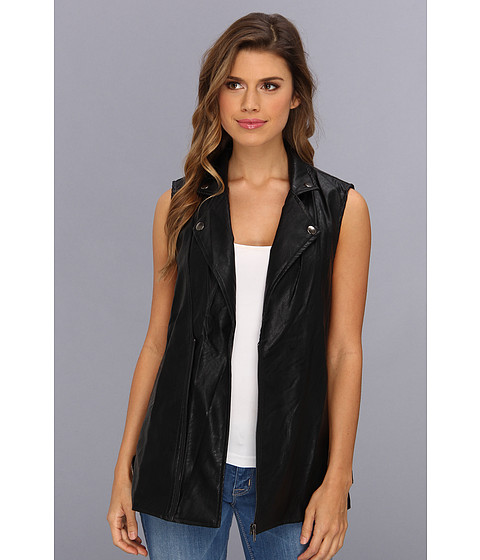 MINKPINK - All I Need Biker Vest (Black) Women's Vest