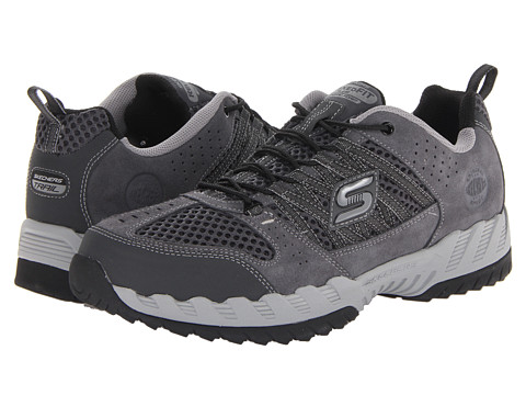 SKECHERS - Outland (Charcoal/Grey) Men's Lace up casual Shoes