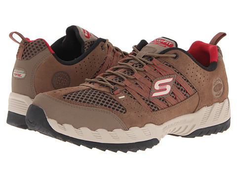 SKECHERS - Outland (Brown/Red) Men's Lace up casual Shoes