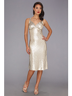 SALE! $89.99 - Save $72 on Stop Staring! for The Cool People Luz Fitted Dress (Metallic Champagne) Apparel - 44.45% OFF $162.00