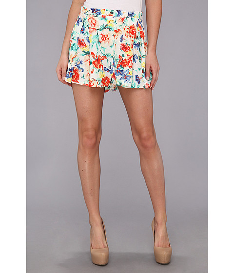 MINKPINK - Flower Crush Box Pleat Short (Multi) Women