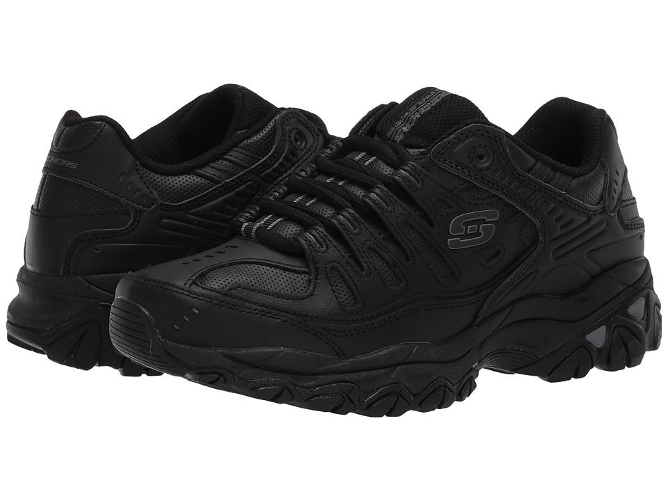 SKECHERS - Afterburn M. Fit Reprint (Black) Men's Lace up casual Shoes