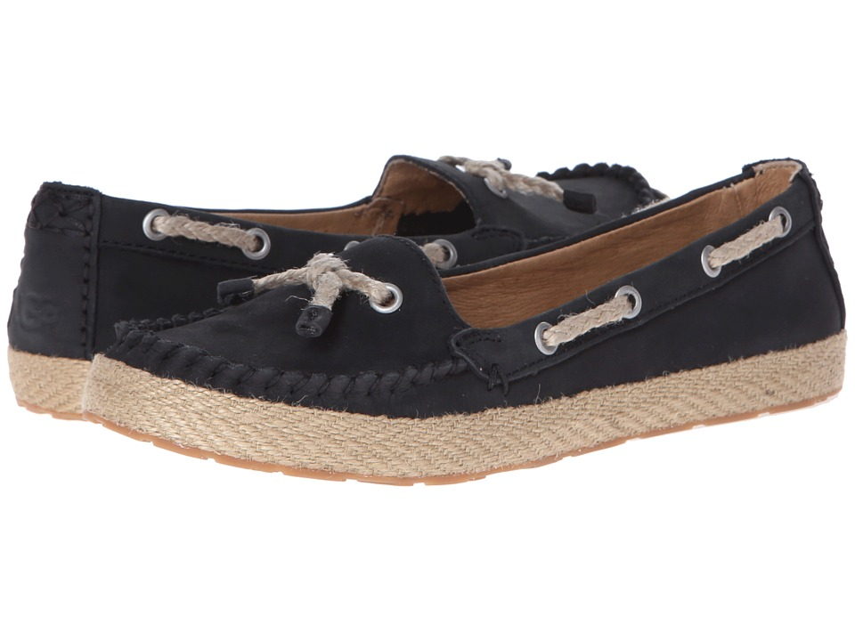 UGG - Chivon (Black Nubuck) Women's Flat Shoes