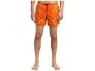 Versace Barocco Nylon Swim Trunk (Orange) Men's Swimwear