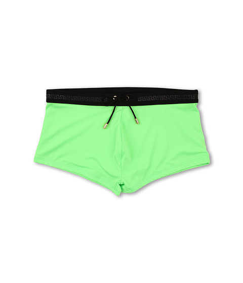 Versace - Lycra Swim Trunk W/ Logo (Neon Green) Men