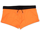 Versace Lycra Swim Trunk W/ Logo (Orange/Black)