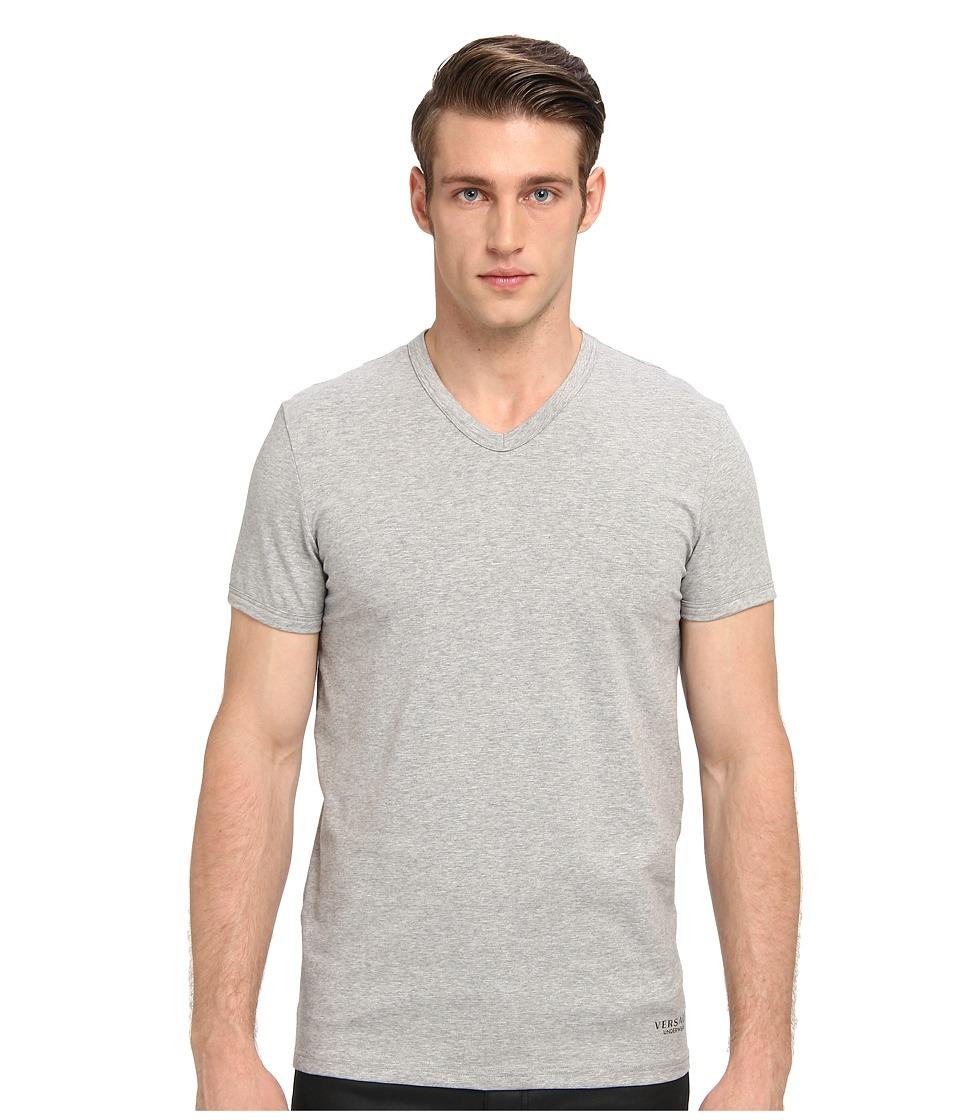 Versace - V-Neck Tee (Grey) Men