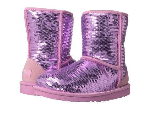 UGG Kids - Classic Short Sparkles (Big Kid) (Lipgloss) Girls Shoes