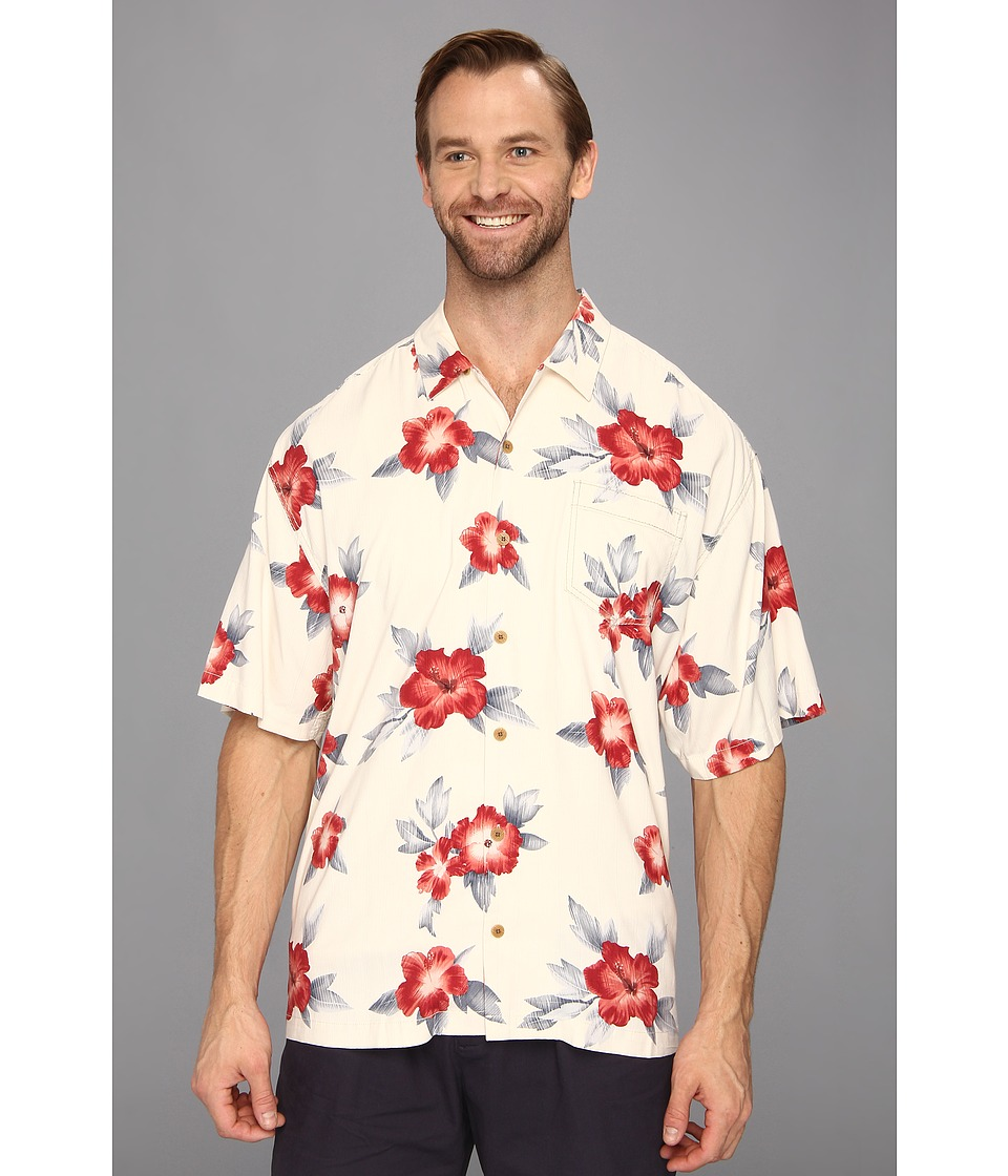 Tommy Bahama Big & Tall - Big Tall Palace Floral S/S Shirt (Continental) Men's Short Sleeve Button Up