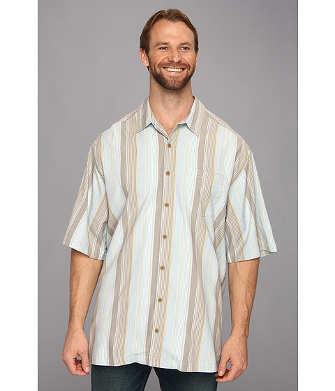 Tommy Bahama Big & Tall - Big Tall Luxe of The Draw S/S Shirt (Continental) Men's Short Sleeve Button Up