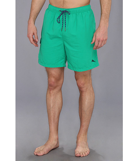 Tommy Bahama - The Naples Happy Go Cargo 6 Swim Trunks (Gumdrop Green) Men